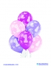 Balon latex D11 1st Birthday Girl 6 komada