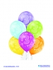 Balon latex D11 3rd Birthday 6 komada