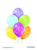 Balon latex D11 4th Birthday 6 komada