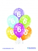 Balon latex D11 6th Birthday 6 komada