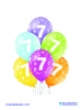 Balon latex D11 7th Birthday 6 komada