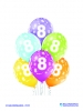 Balon latex D11 8th Birthday 6 komada