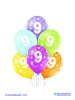 Balon latex D11 9th Birthday 6 komada
