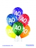 Balon latex D11 40th Birthday 6 komada