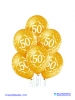 Balon latex D11 50th Anniversary 6 komada