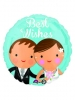 17C Best Wishes Wedding Couple S40
